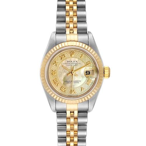 Photo of Rolex Datejust 26 Steel Yellow Gold Decorated MOP Dial Ladies Watch 79173
