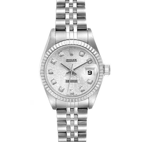 Photo of Rolex Datejust Steel White Gold Diamond Ladies Watch 79174