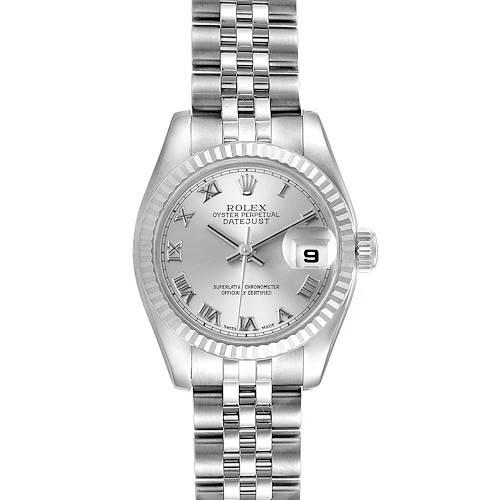 Photo of Rolex Datejust Steel White Gold Rhodium Roman Dial Ladies Watch 179174