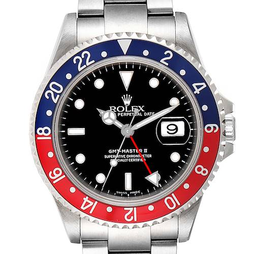 Photo of Rolex GMT Master II Coke Pepsi Black 3 Bezel Insert Watch 16710