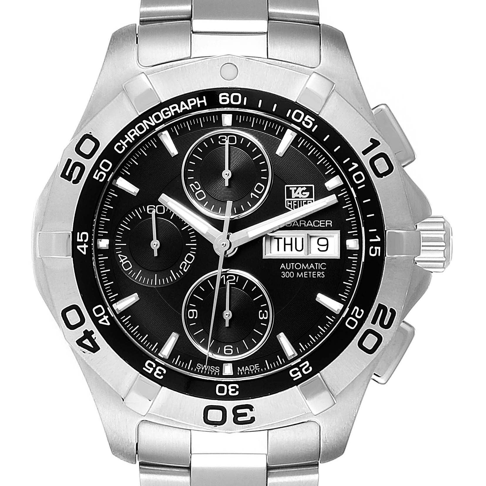 Photo of Tag Heuer Aquaracer Black Dial Chronograph Mens Watch CAF2010