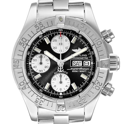 Photo of Breitling Aeromarine Superocean Black Dial Steel Mens Watch A13340