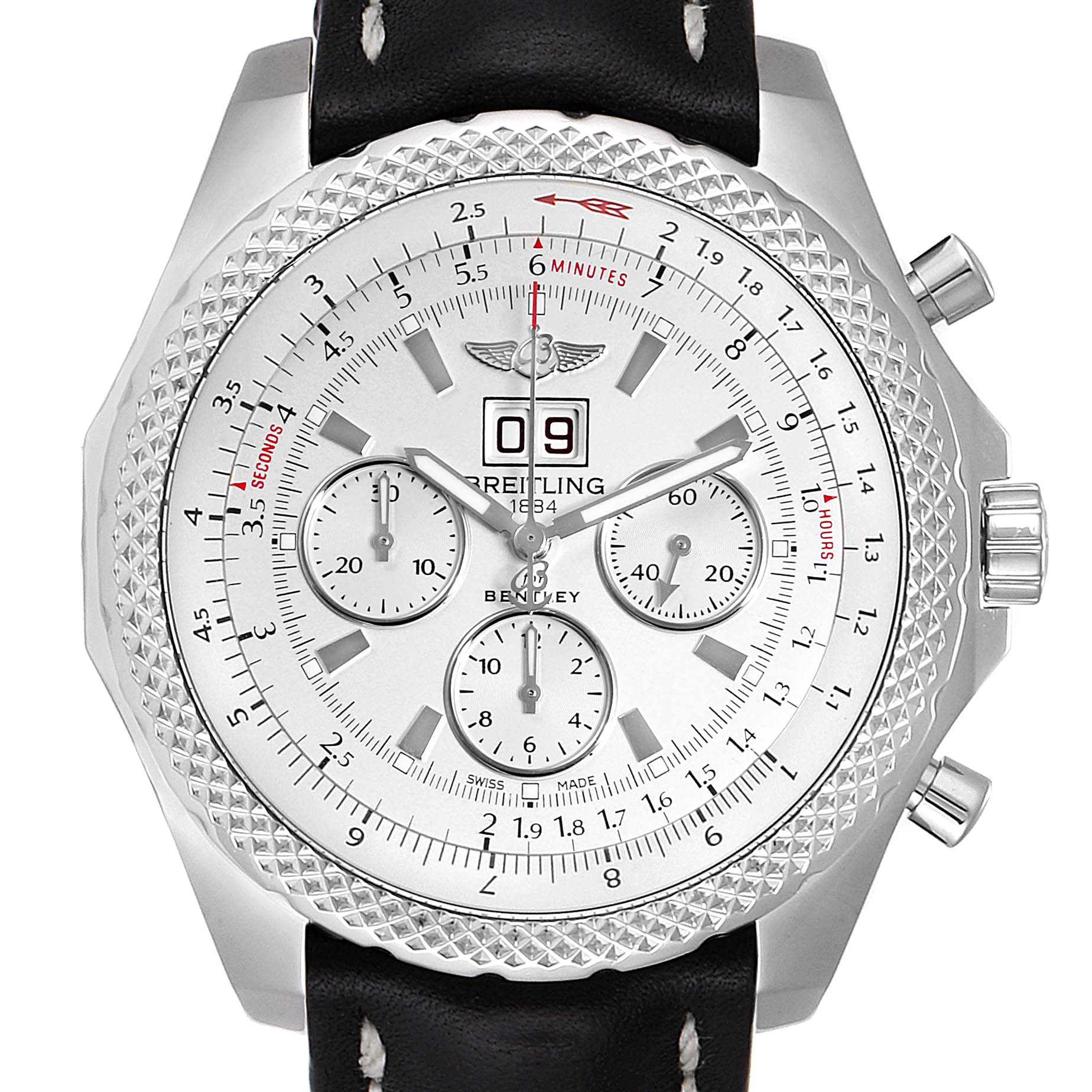 Photo of Breitling Bentley 6.75 Speed Chronograph Silver Dial Mens Watch A44364