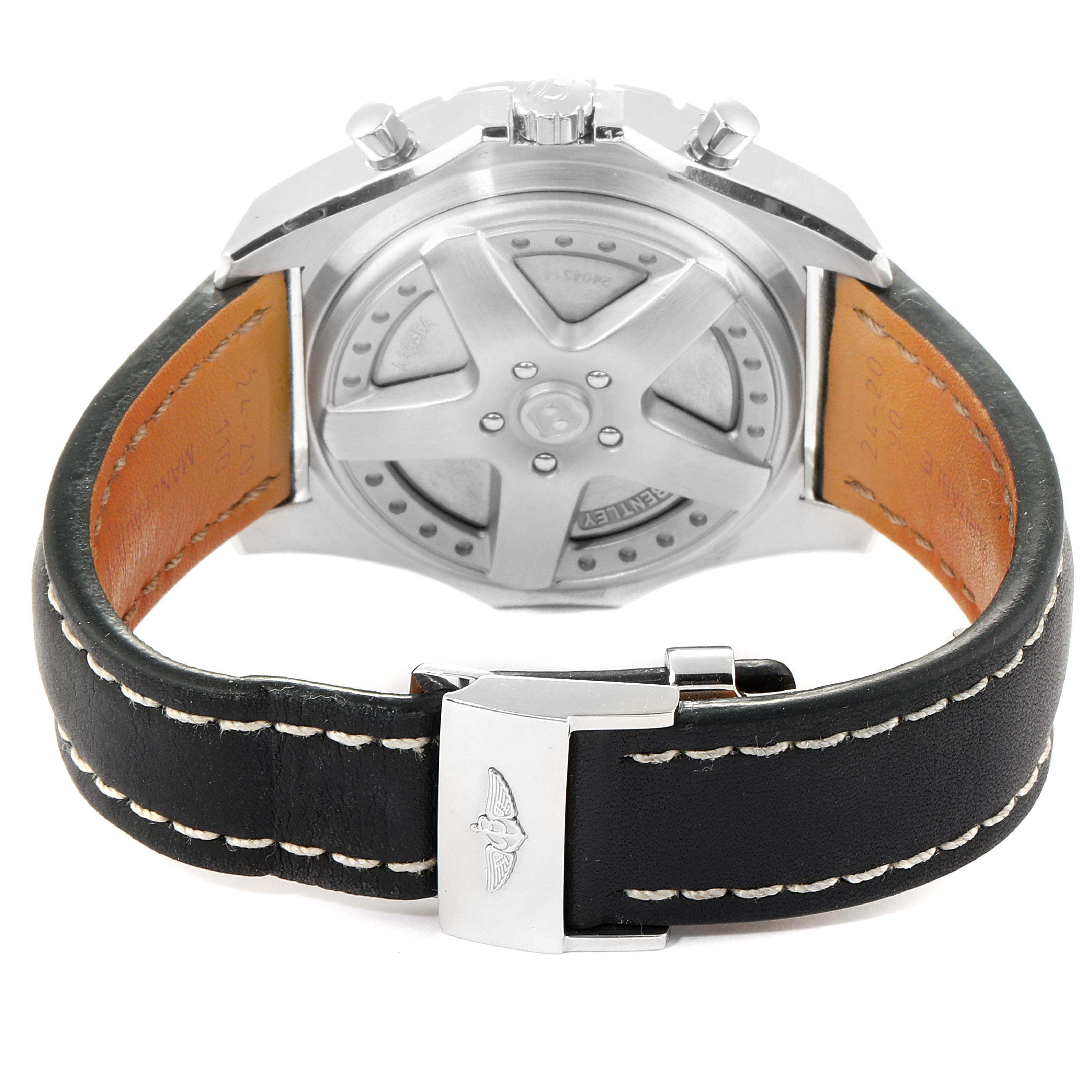 Breitling Bentley 6.75 Speed Chronograph Silver Dial Mens Watch A44364 SwissWatchExpo