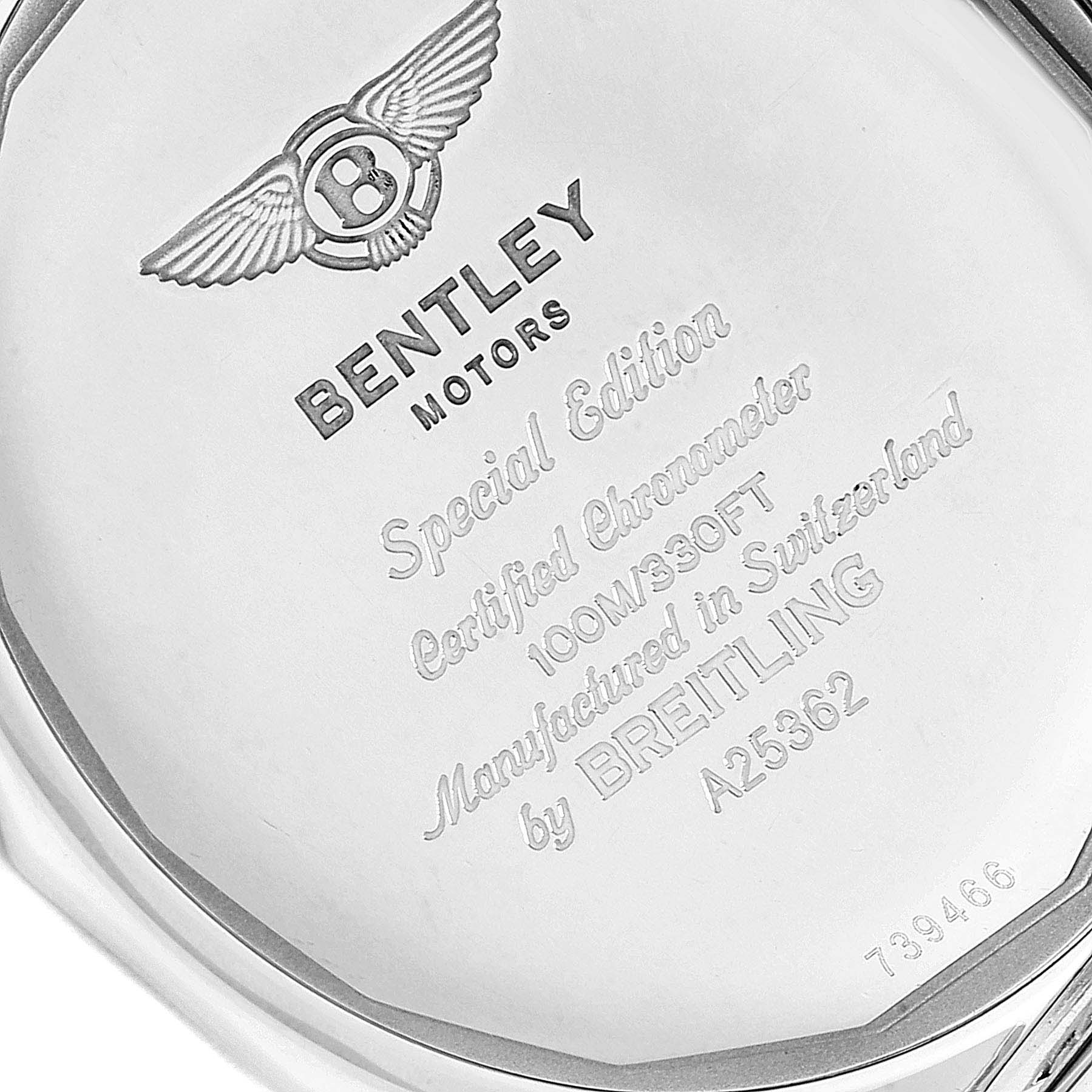 Breitling Bentley Motors Bronze Dial Steel Mens Watch A25362 Box Papers SwissWatchExpo