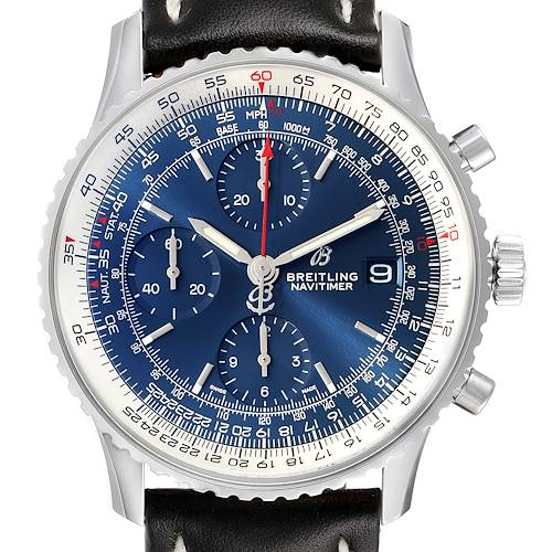 Photo of Breitling Navitimer Heritage Blue Dial Steel Mens Watch A13324 Box Papers