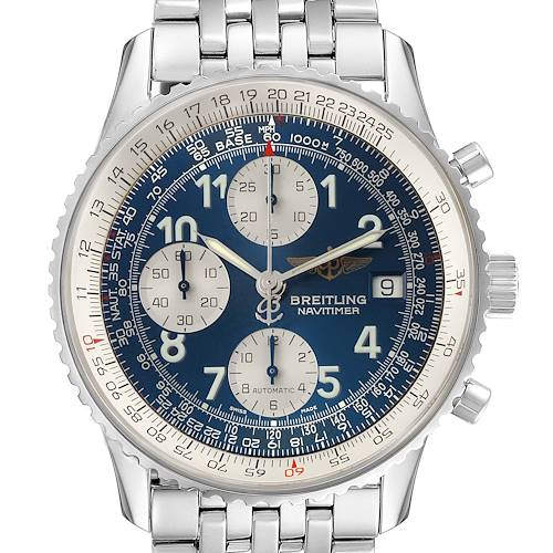 Photo of Breitling Navitimer II Blue Arabic Numeral Dial Steel Mens Watch A13022