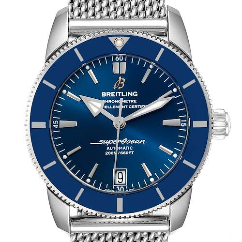 Photo of Breitling Superocean Heritage II 42 Blue Dial Steel Mens Watch AB2010