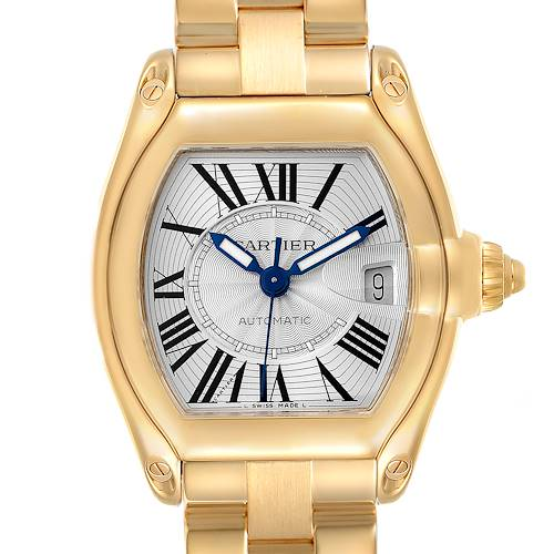 Photo of Cartier Roadster 18K Yellow Gold Large Mens Watch W62005V1 Box Papers