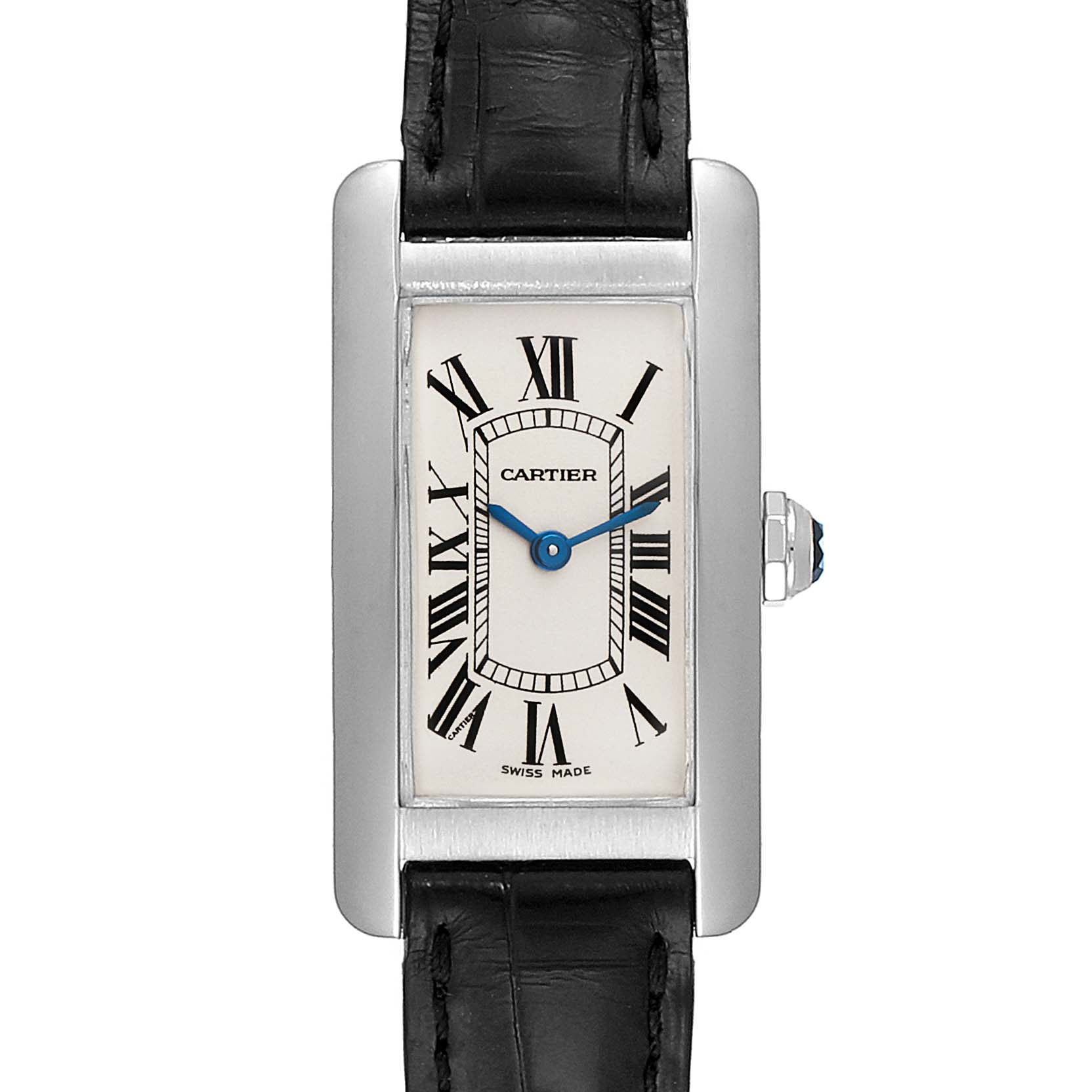 Cartier Tank Americaine 18K Yellow Gold Ladies Watch W2601956