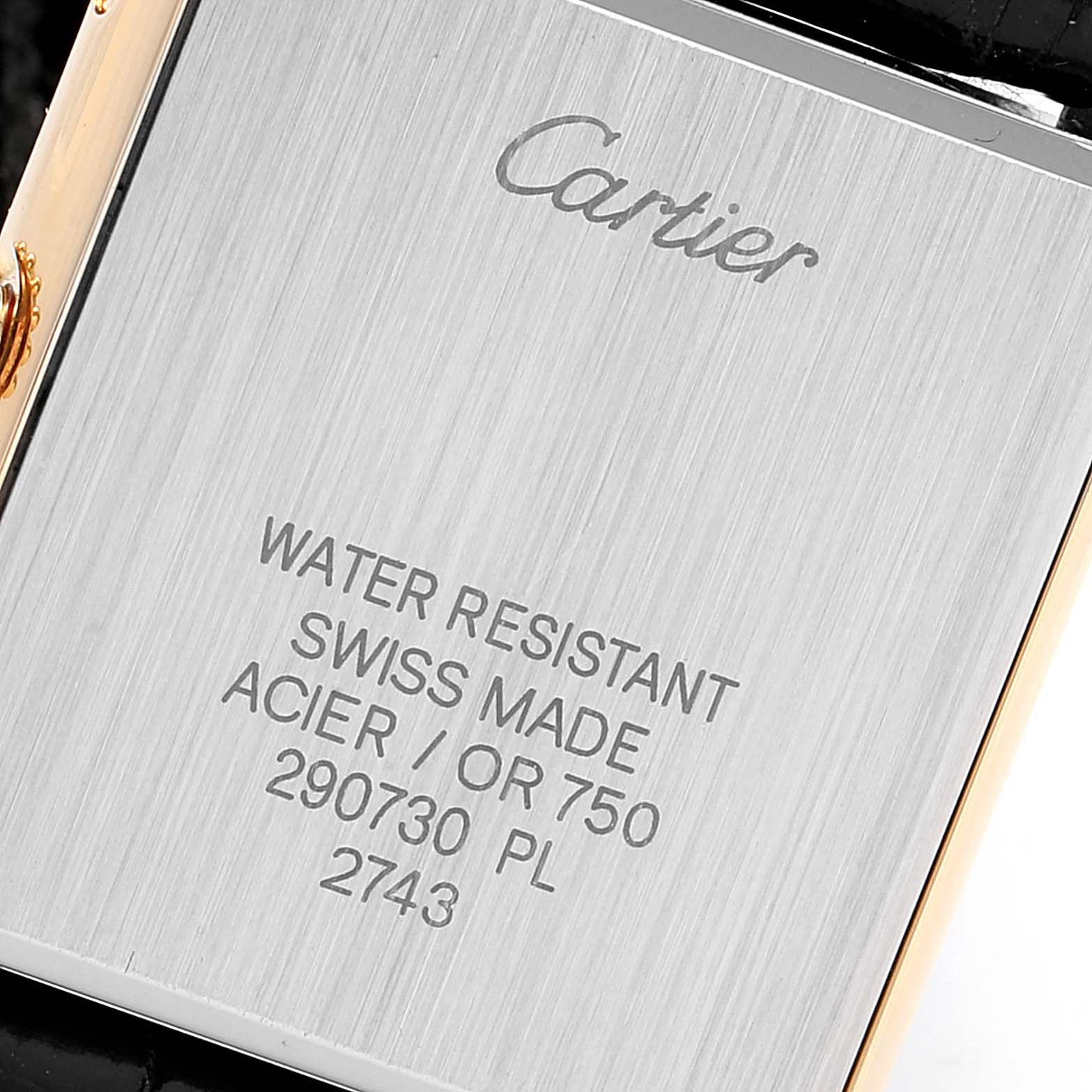 Cartier Tank Solo Yellow Gold Steel Ladies Watch W1018755 Box Papers SwissWatchExpo