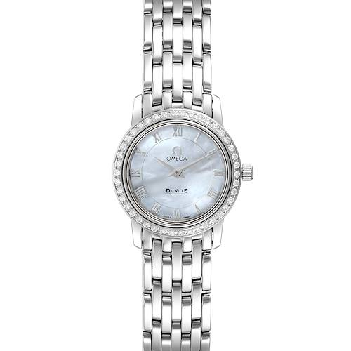 Photo of Omega DeVille MOP Diamond Stainless Steel Ladies Watch 4575.71.00 Unworn