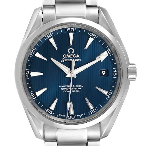 Photo of Omega Seamaster Aqua Terra Blue Dial Watch 231.10.42.21.03.003 Box Card