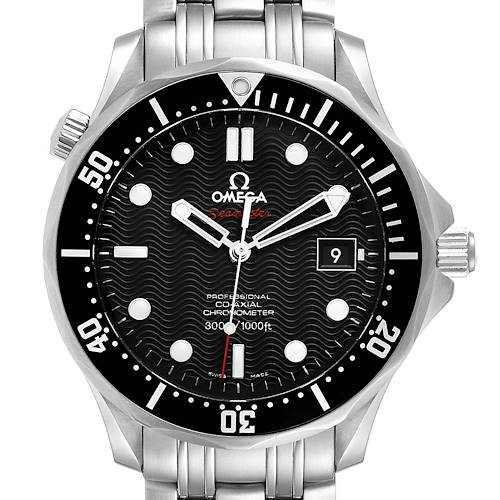 Photo of Omega Seamaster Black Dial Steel Mens Watch 212.30.41.20.01.002 Box Card
