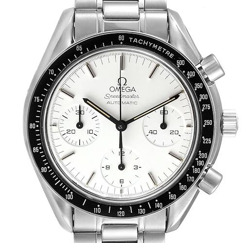 Photo of Omega Speedmaster Reduced Albino White Dial Mens Watch 3510.20.00