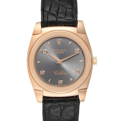 Photo of Rolex Cellini Cestello Rose Gold Slate Dial Ladies Watch 5320 Box Papers