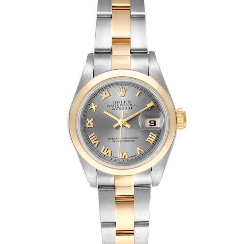 Photo of Rolex Datejust Steel Yellow Gold Slate Dial Ladies Watch 79163