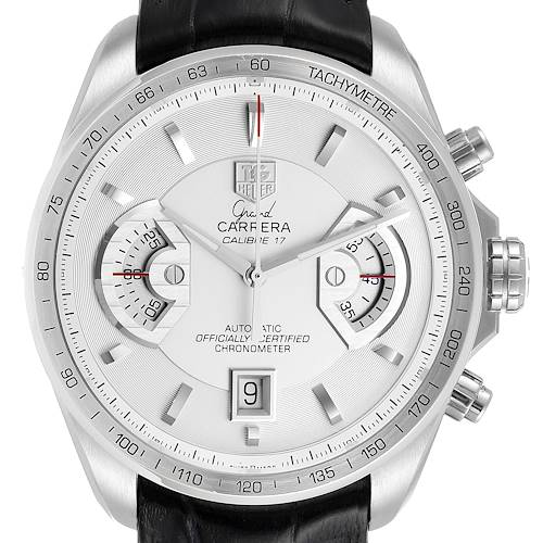 Photo of Tag Heuer Grand Carrera White Dial Steel Mens Watch CAV511B
