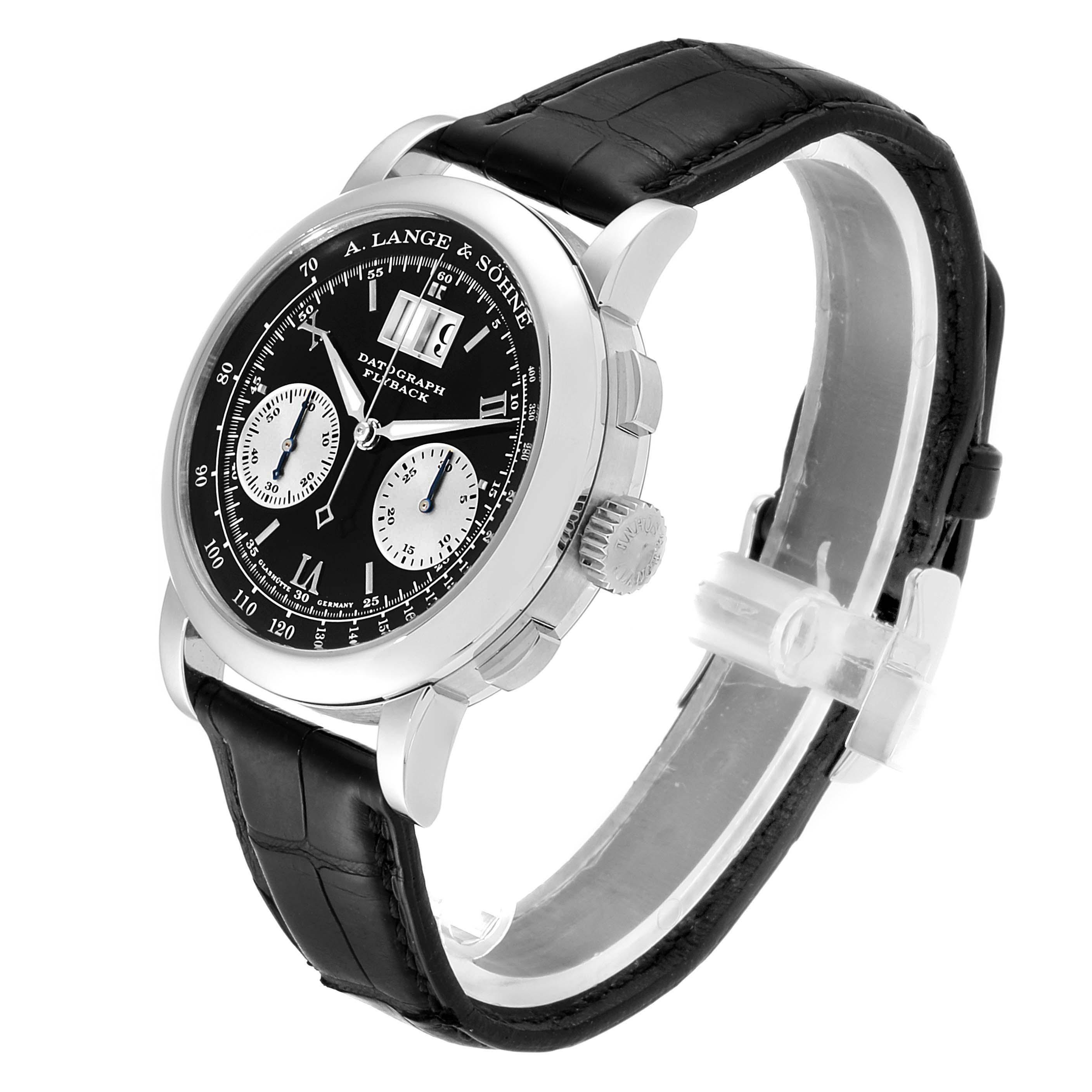 A. Lange Sohne Datograph Platinum 39mm Mens Watch 403.035 SwissWatchExpo