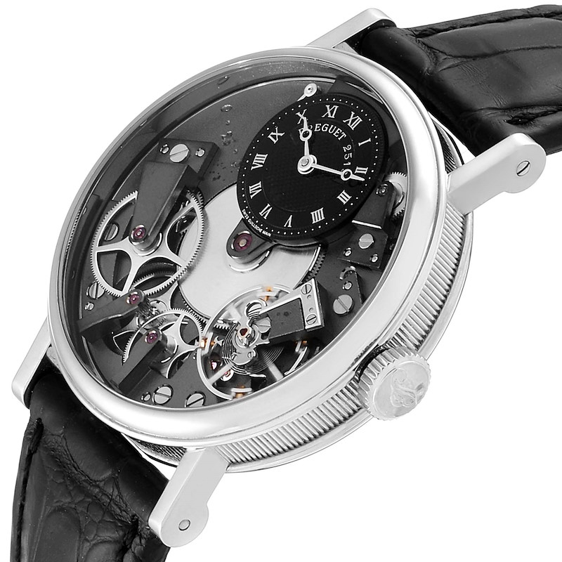 Breguet Tradition Skeleton Dial White Gold Manual Wind Mens Watch 7027BB SwissWatchExpo