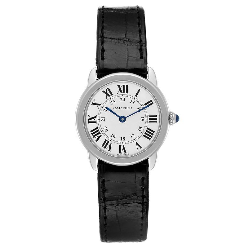Cartier Ronde Solo Silver Dial Steel Ladies Watch W6700155 SwissWatchExpo