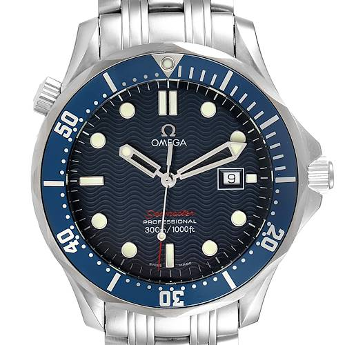 Photo of Omega Seamaster Bond 300M Blue Wave Dial Mens Watch 2221.80.00