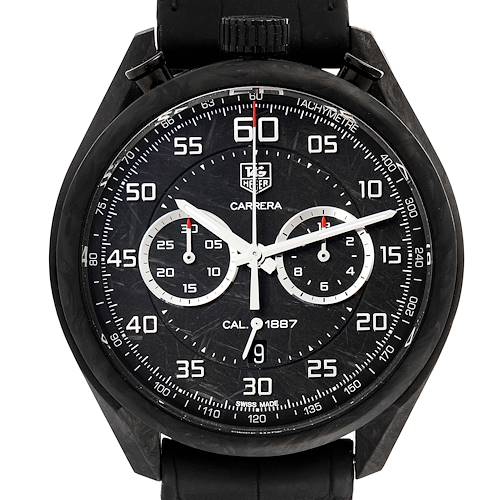 Photo of Tag Heuer Carrera Chronograph Grey Dial Carbon Mens Watch CAR2C90