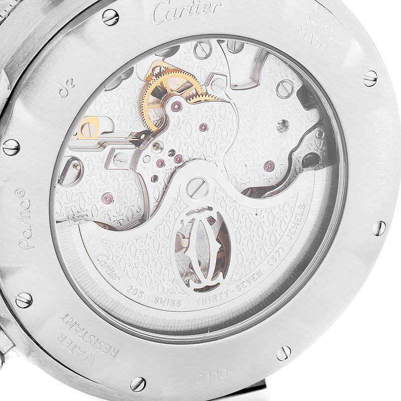 Cartier Pasha 38mm Chronograph Steel Mens Watch W31030H3 SwissWatchExpo