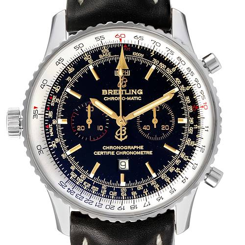 Photo of Breitling Chronomatic Limited Edition Black Dial Steel Mens Watch A41350