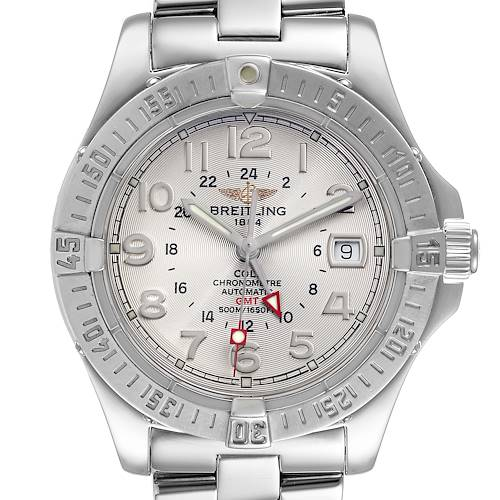 Photo of Breitling Colt GMT Silver Dial Automatic Steel Mens Watch A32350