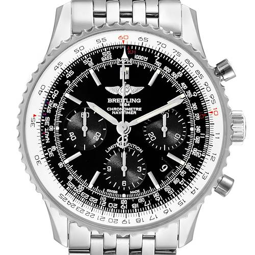 Photo of Breitling Navitimer 01 Black Dial Limited Edition Watch AB0121 Box Papers