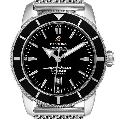 Photo of Breitling Superocean Heritage 46mm Black Dial Steel Mens Watch A17320