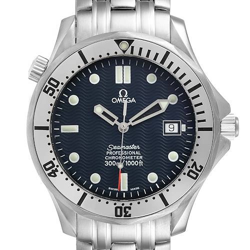 Photo of Omega Seamaster Blue Wave Decor Dial Steel 300m Watch 2532.80.00