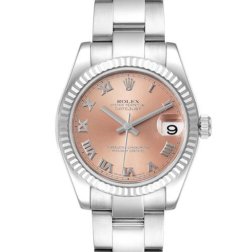 Photo of Rolex Datejust Midsize Steel White Gold Salmon Dial Ladies Watch 178274