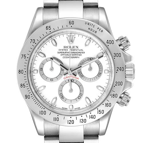 Photo of Rolex Daytona White Dial Chronograph Steel Mens Watch 116520