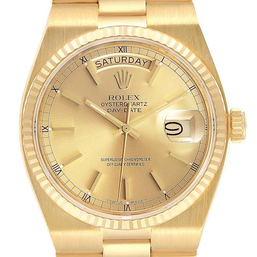 Photo of Rolex Oysterquartz President Day-Date Yellow Gold Mens Watch 19018