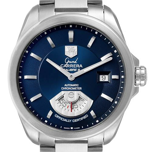 Photo of Tag Heuer Carrera Blue Dial Automatic Mens Watch WAV511J Box Papers
