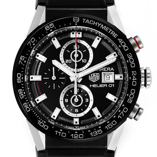 Photo of Tag Heuer Carrera Chronograph Automatic Mens Watch CAR201Z Box Card
