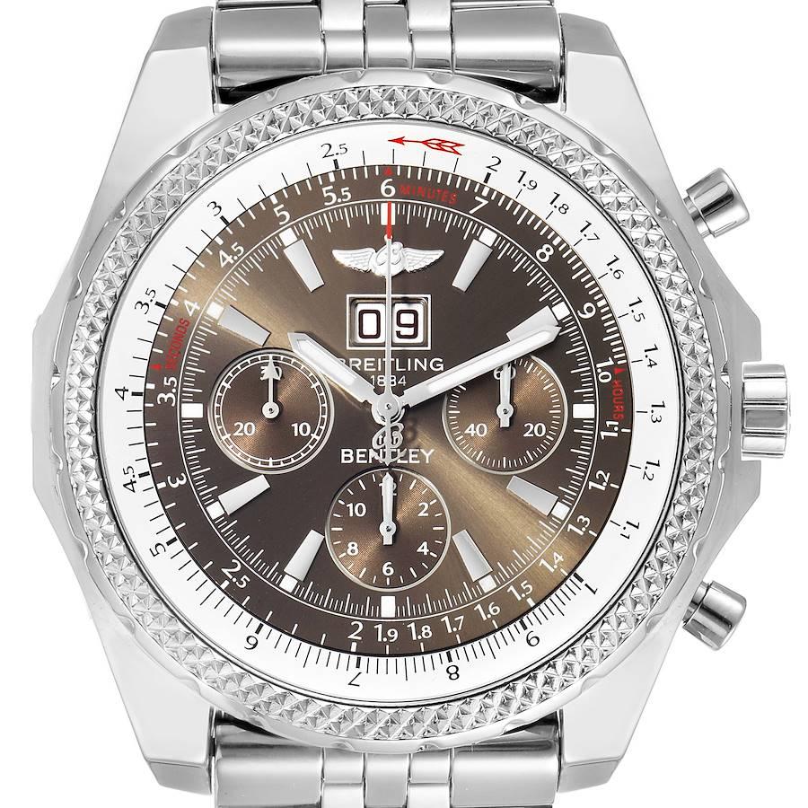 Breitling Bentley Motors Bronze Dial Chronograph Watch A44362 Box Papers SwissWatchExpo
