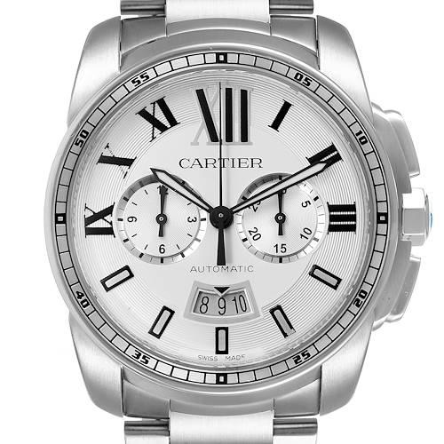 Photo of Cartier Calibre Silver Dial Chronograph Mens Watch W7100045