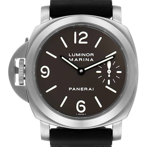Photo of Panerai Luminor Base 44mm Left Handed Titanium Mens Watch PAM00056