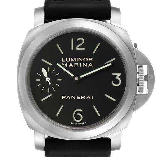 Photo of Panerai Luminor Marina 44mm Titanium Black Dial Watch PAM00177 Box Papers