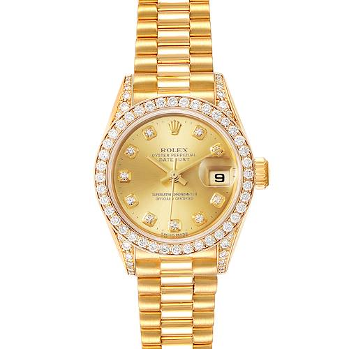 Photo of Rolex President 26 18k Yellow Gold Diamond Ladies Watch 79158