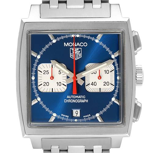 Photo of Tag Heuer Monaco Blue Dial Automatic Chronograph Mens Watch CW2113 Card