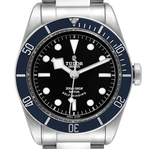 Photo of Tudor Heritage Black Bay Blue Bezel Steel Watch 79220B Box Papers