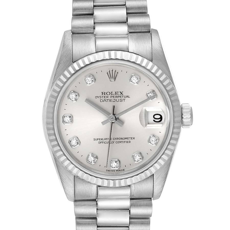 Rolex President Midsize White Gold Diamond Ladies Watch 78279 SwissWatchExpo