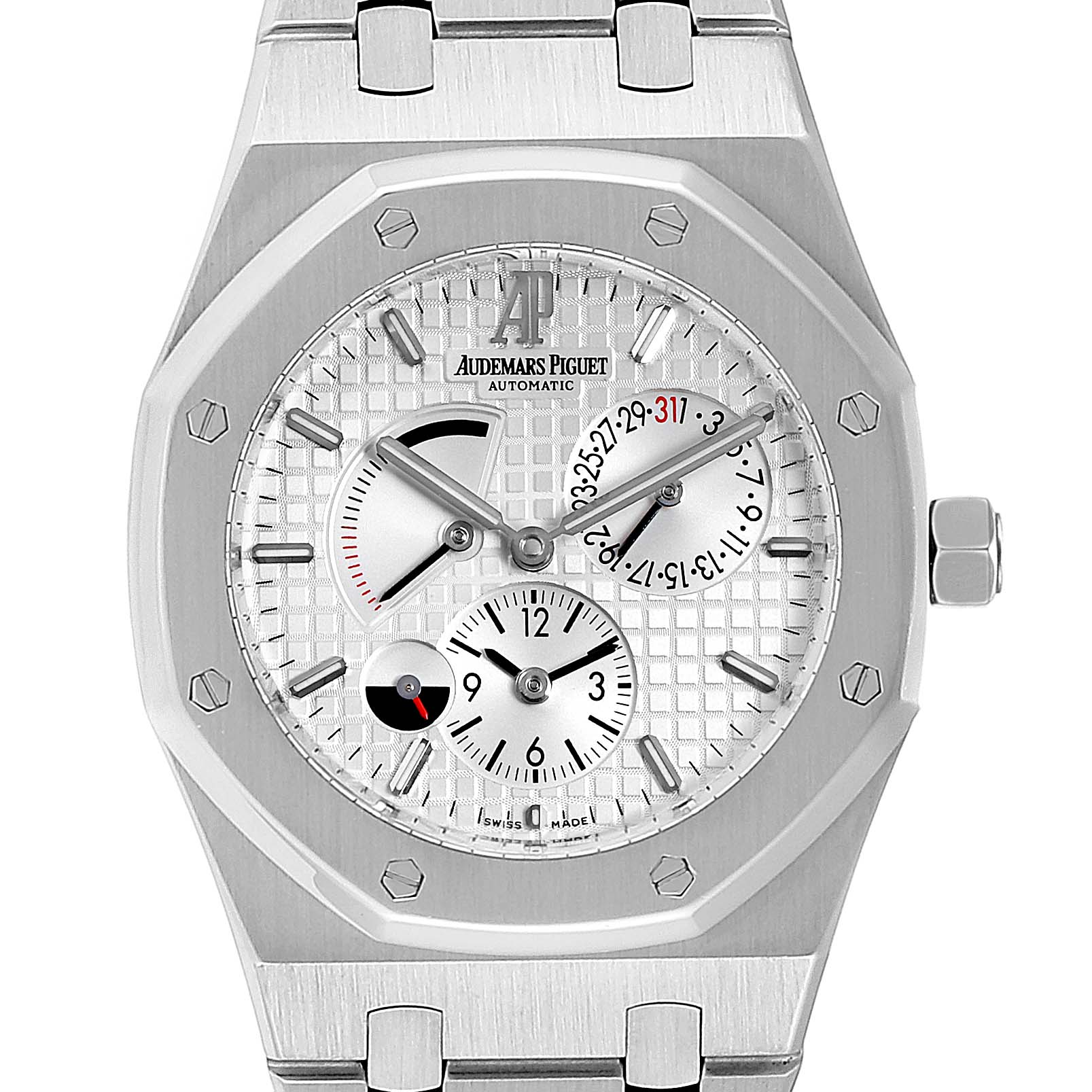 Audemars Piguet Royal Oak Dual Time Power Reserve Mens Watch 26120ST SwissWatchExpo