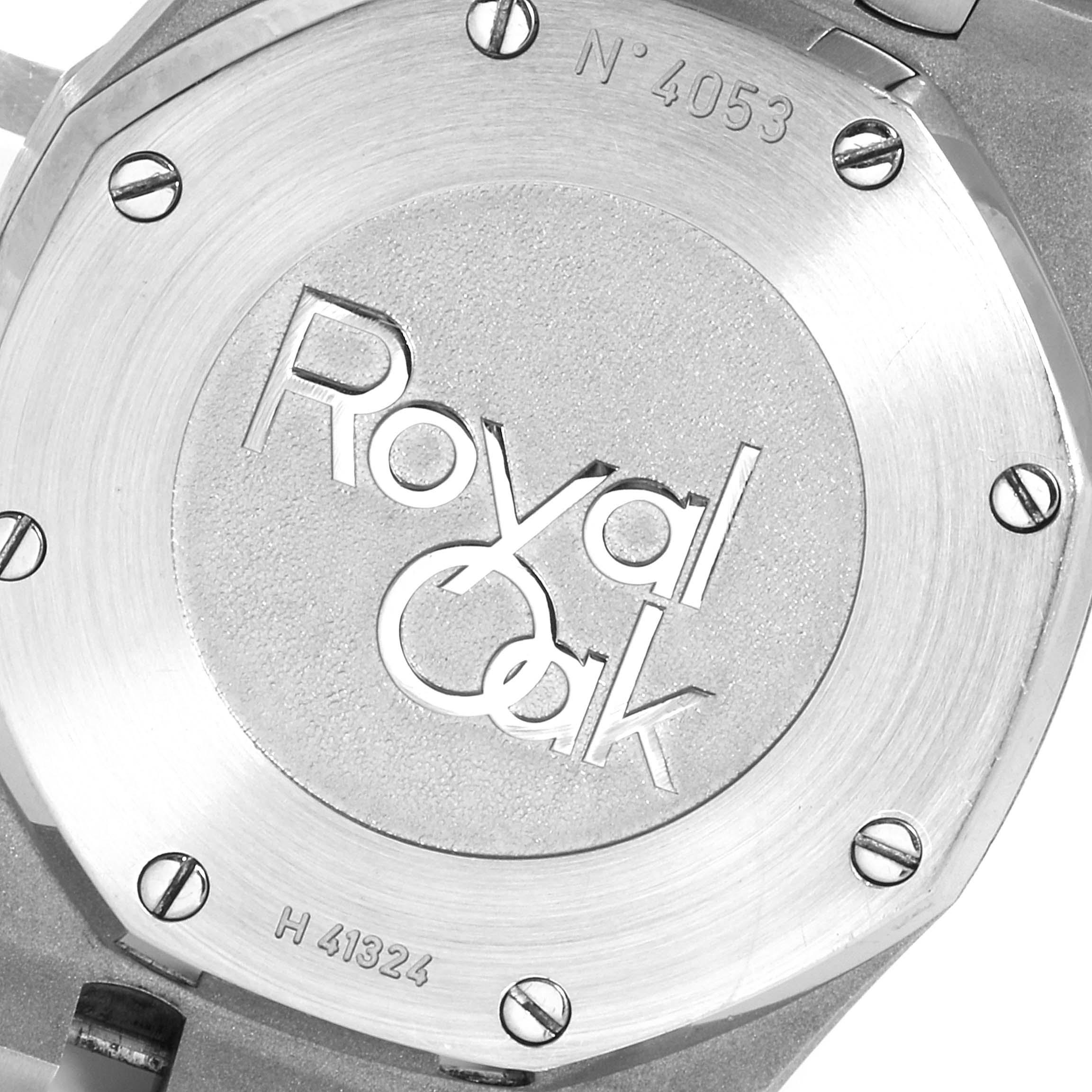 Audemars Piguet Royal Oak Dual Time Power Reserve Mens Watch 26120ST SwissWatchExpo