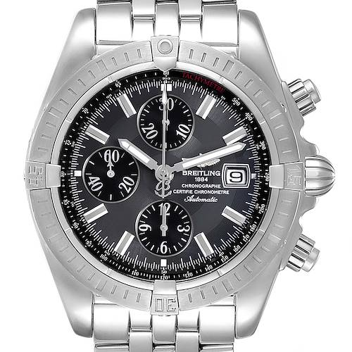Photo of Breitling Chronomat Evolution Grey Dial Steel Mens Watch A13356