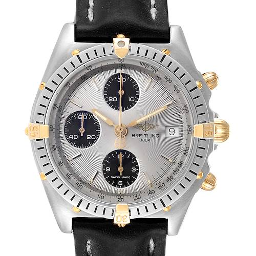 Photo of Breitling Chronomat Silver Dial Steel Yellow Gold Mens Watch B13050